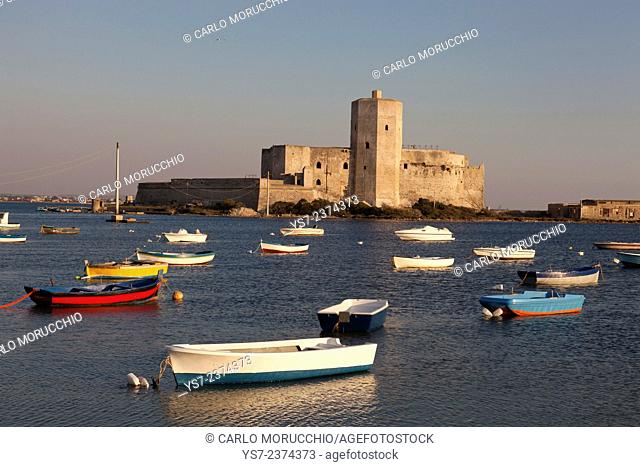 Colombaia castle, medieval fortress, port of Trapani, Sicily, Italy