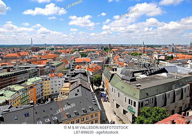 aerial view of Munich,bavaria,germany