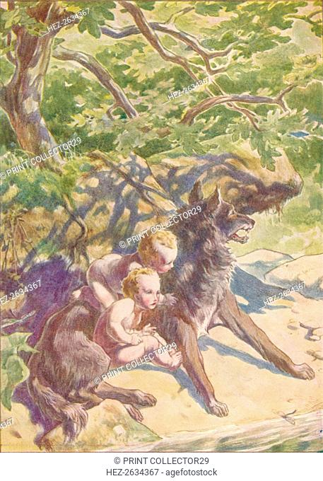 'Down to the river presently came a she-wolf to drink', c1912 (1912). Artist: Ernest Dudley Heath