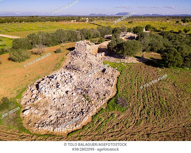 Prehistoric settlement of Capocorb Vell, Talayotic culture, early millennium before Christ,Iron Age, Llucmajor, island of Mallorca, Balearic Islands, Spain