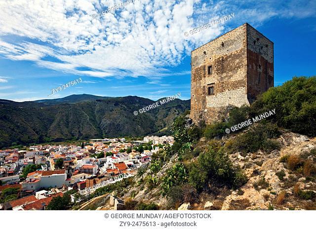 Castillo de Vélez in Vélez de Benaudalla,. Costs Tropical, . Granada Province, Andalucia, Spain