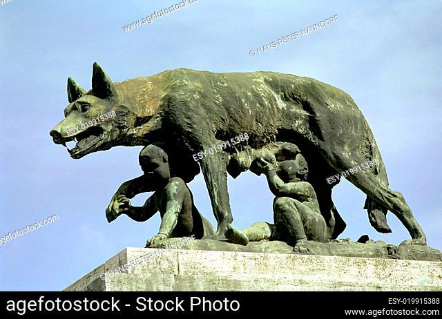Römische Wölfin mit Remus und Romulus