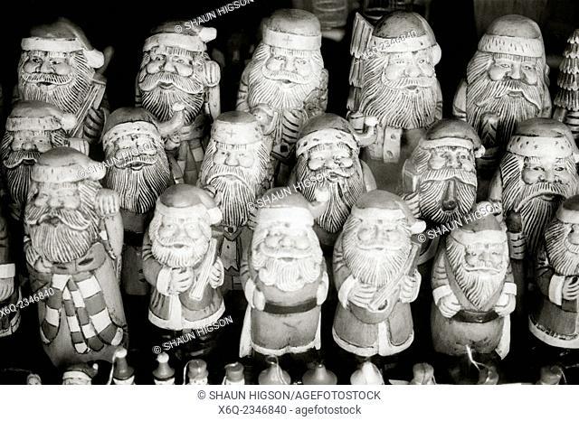 Santa Claus in Ubud in Bali in Indonesia