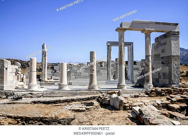 Greece, Cyclades, Naxos, Temple of Sangri, Demeter Temple