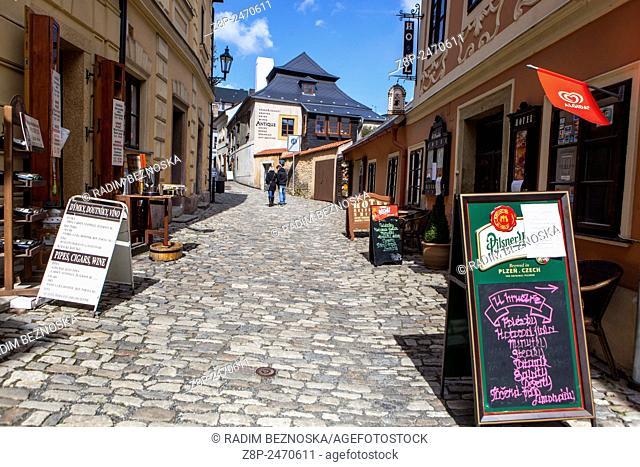 Street of Kutna Hora,UNESCO, Bohemia, Czech Republic