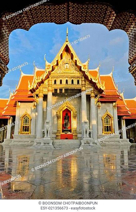 Famous Thai marble temple