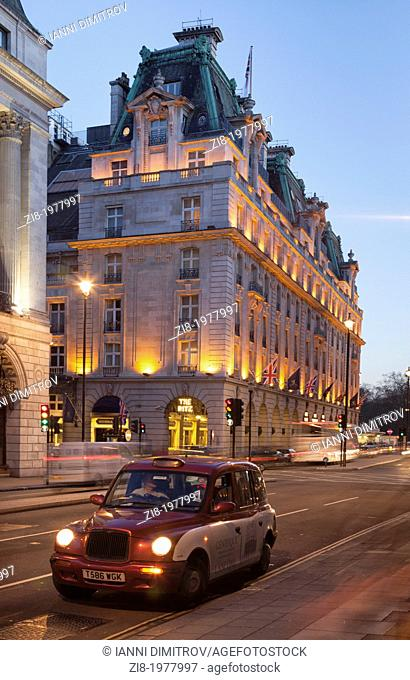 Hotel Ritz on Piccadilly at night,London,England