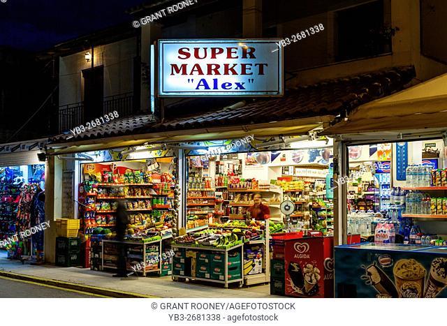 A Supermarket In Sidari, Corfu, Greece