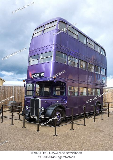 Knight Bus, Making of Harry Potter, Warner Bros. Studio Tour, Leavesden, London