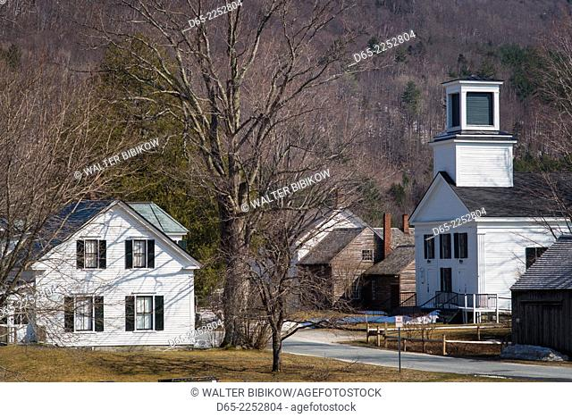 USA, Vermont, Plymouth, Birthplace of former US President Calvin Coolidge, 30th US president, Coolidge family home, elevated view