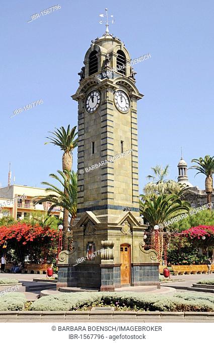 Big Ben clock tower, national monument, Plaza Colon, Plaza de Armas square, Antofagasta, Norte Grande region, Northern Chile, Chile, South America