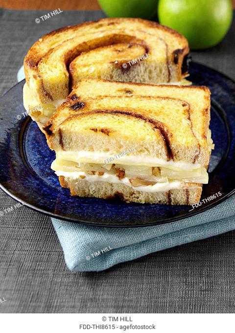 An apple pie sandwich