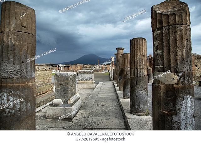 The ruins, Pompei, Campania, Italy