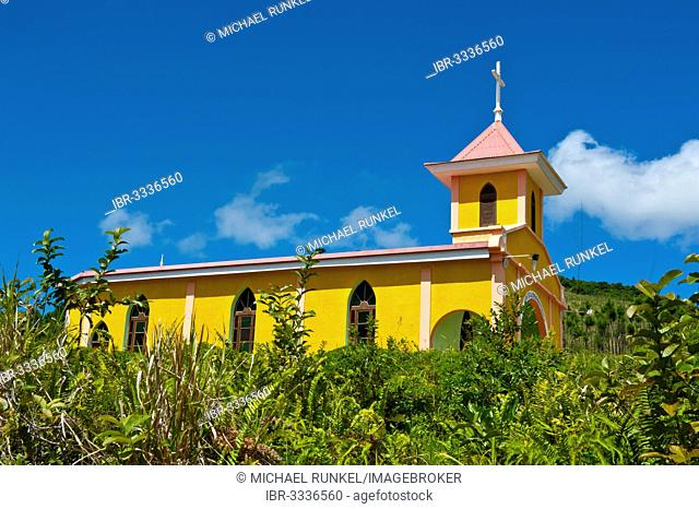 Little unnamed church, Île des Pins, New Caledonia, France