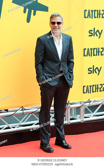 American actor George Clooney attends the Sky TV series Catch-22 photocall. Rome (Italy), May 13th, 2019