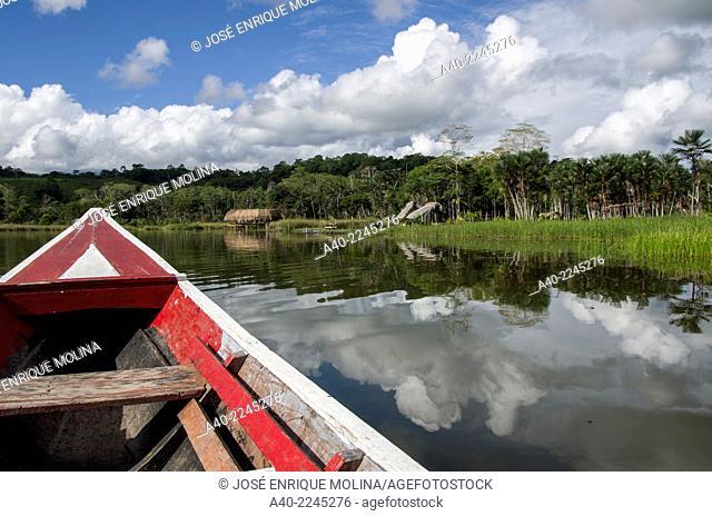 Lagoon of Miracles in Tingo Maria. Huanuco departmen. Peru
