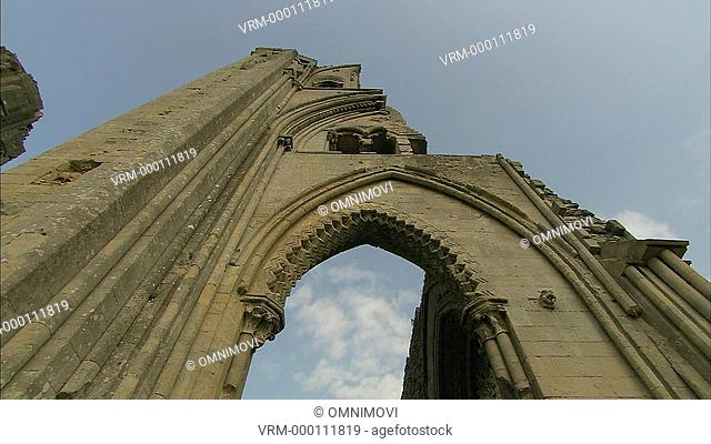 LA PAN Arch at Glastonbury Abbey / Glastonbury, Somerset, England, UK