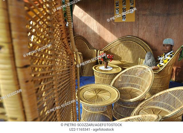Dili (East Timor): rattan furniture, sold at a fair in occasion of the Independence Restoration Day (May 20th)