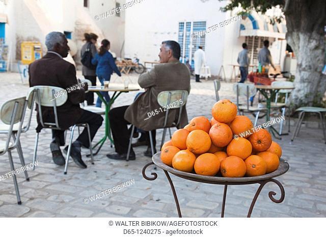Tunisia, Jerba Island, Houmt Souq, outdoor cafe