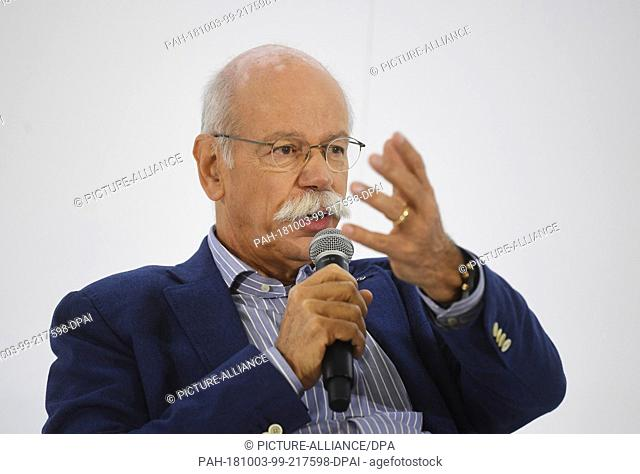03 October 2018, France, Paris: Dieter Zetsche, Chairman of the Board of Management of Daimler AG and Head of Mercedes-Benz Cars