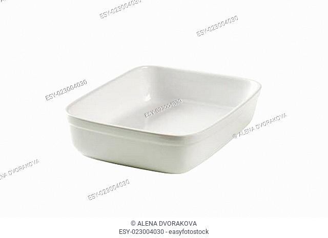 Deep porcelain baking dish