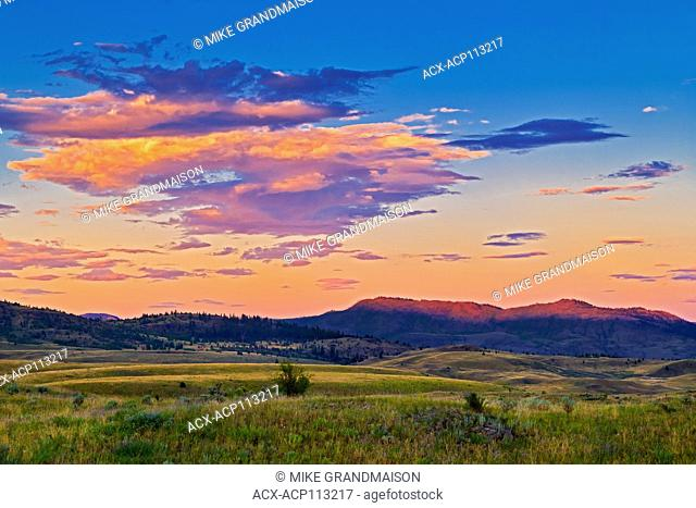 Sunset on the Grasslands, Thompson Valley, Kamloops, British Columbia, Canada