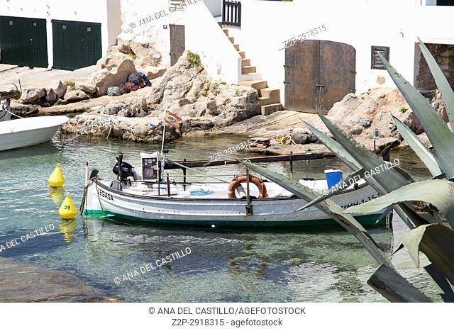Biniancolla cove Minorca Balearic islands Spain on July 31, 2017