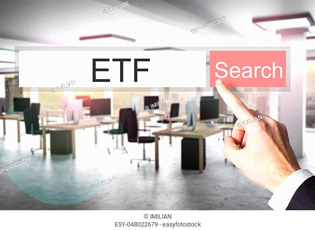 websearch etf red search button modern office 3D Illustration
