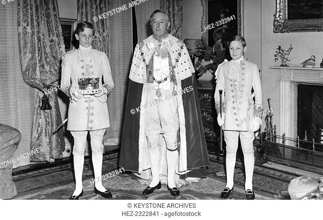 The Duke of Norfolk, the Earl Marshal, in his coronation day robes, May 1953. In his capacity as Earl Marshal of England