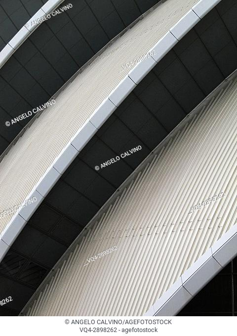 Details of SECC, also known as the Armadillo, conference centre Glasgow, Scotland