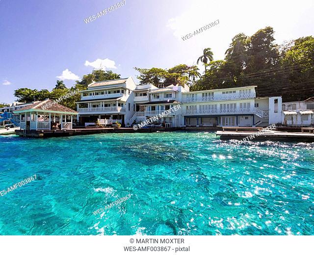 Caribbean, Greater Antilles, Jamaica, Portland Parish, Port Antonio, Luxus villas at blue lagoon