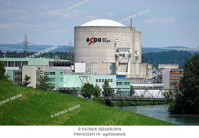 The swiss nuclear power plant beznau Stock Photos and Images