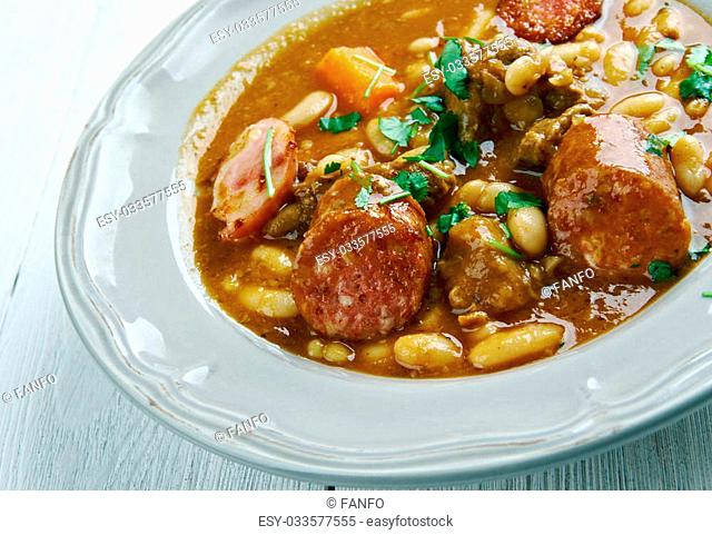 Cocido Montanes - hearty bean stew originally of Cantabria in northern Spain