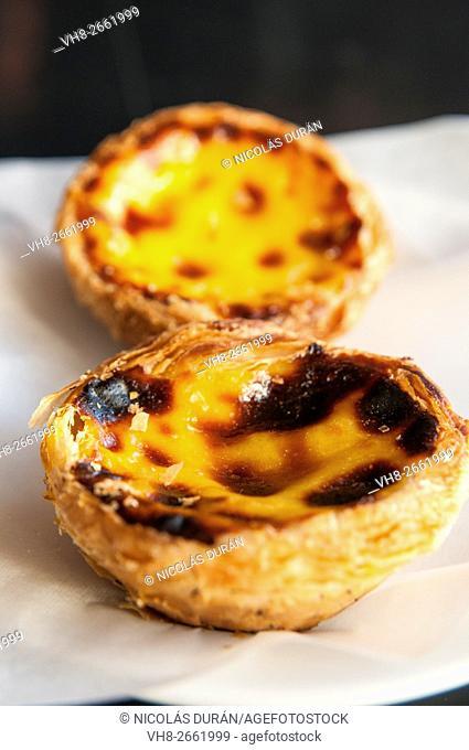 """""""Pasteis de Belem"""", Portuguese typical cake. Lisbon. Portugal"""