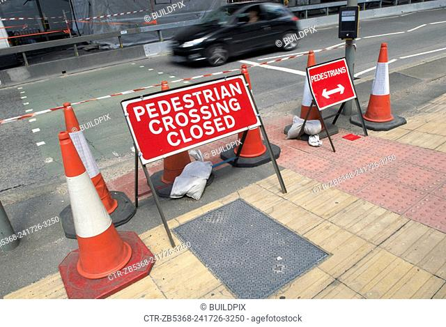 Pedestrain crossing out of use, London ,UK