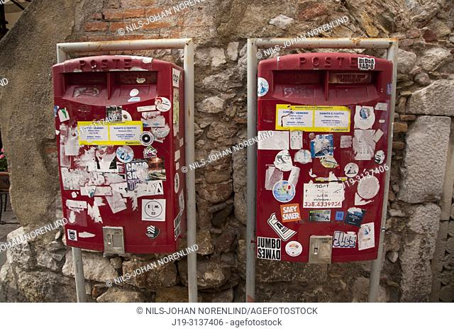 Mailboxes, Taormina, Sicily