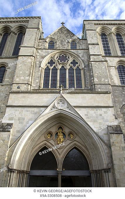 Entrance to Chichester Cathedral Church; UK