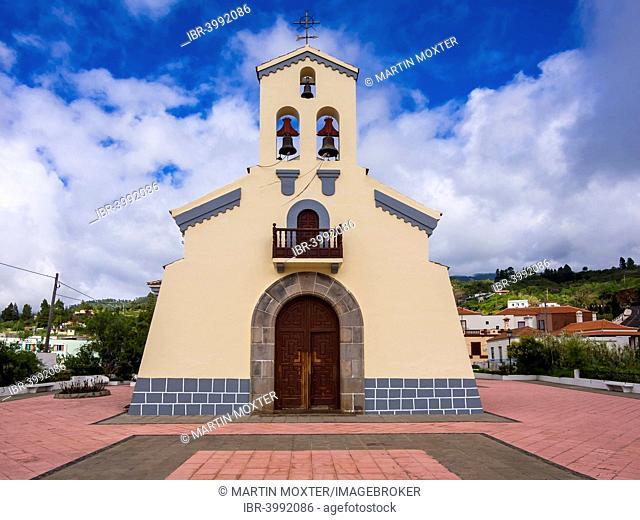 Iglesia de San Mauro Abad in Plaza San Mauro, Puntagorda, La Palma, Canary Islands, Spain