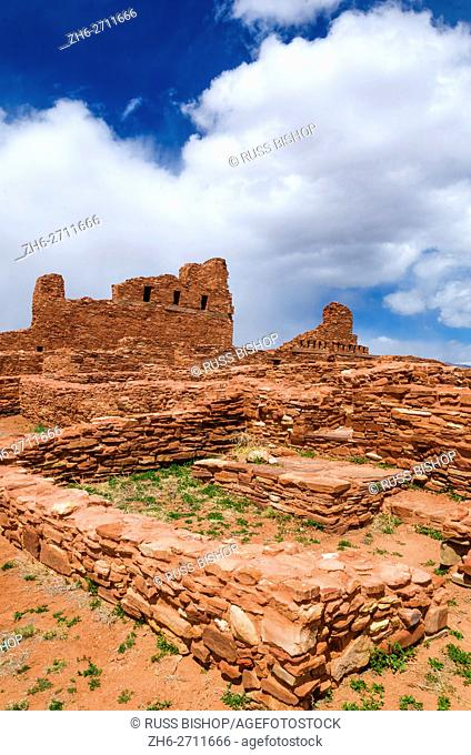 San Gregorio Church at Abo Ruins, Salinas Pueblo Missions National Monument. , New Mexico, USA