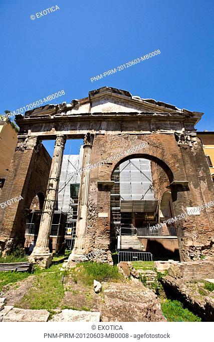 Ruins of a building, Roman Forum, Rome, Lazio, Italy