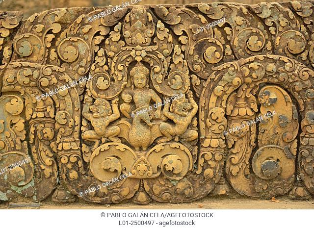 Banteay Srei temple. Architectural complex of Angkor Wat Cambodia