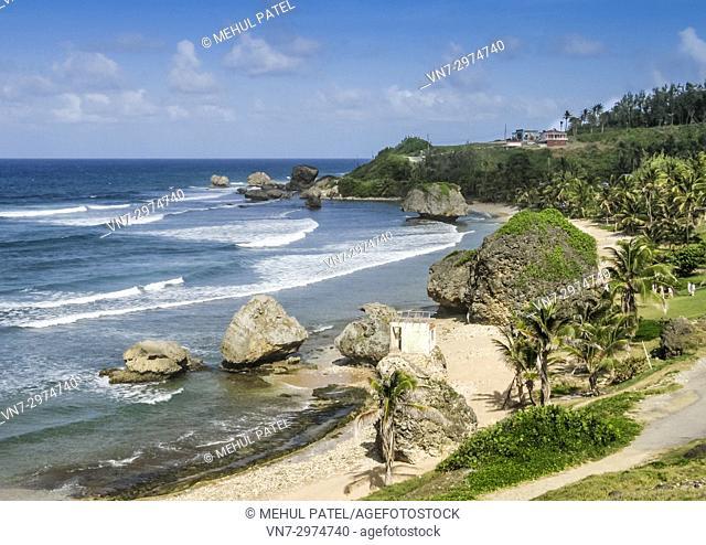 Rugged coastline of Bathsheba on the east coast of Barbados