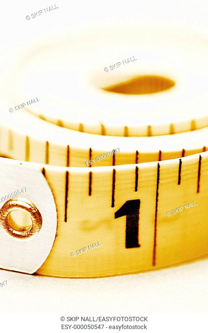 Measuring tape showing the number1