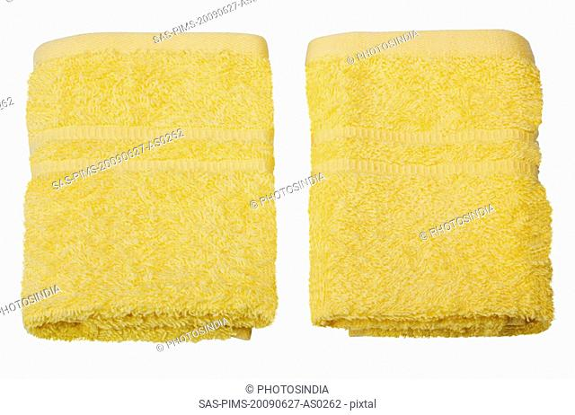 Close-up of two towels