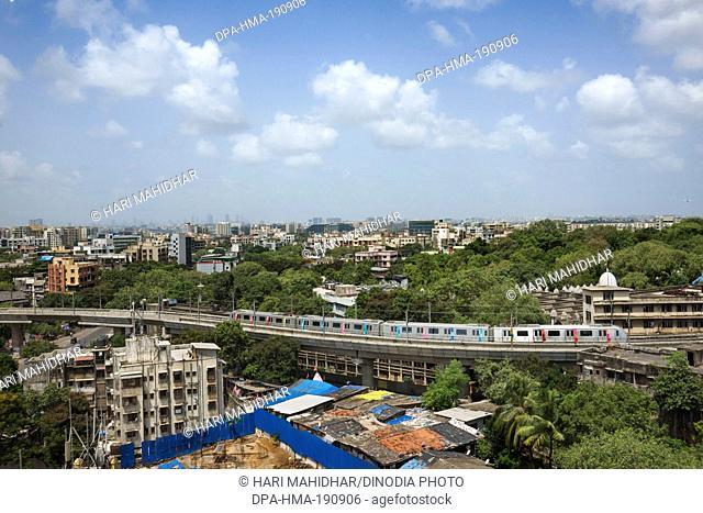 Mumbai Metro Ghatkopar to Versova Mumbai Maharashtra India Asia