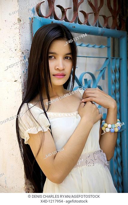 Portrait of woman, Cambodia