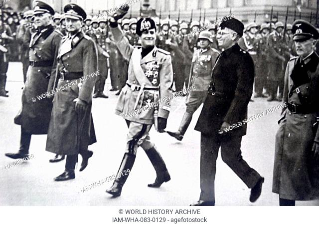 Visit by Italian Fascist Foreign Minister Count Ciano, to Berlin 1936