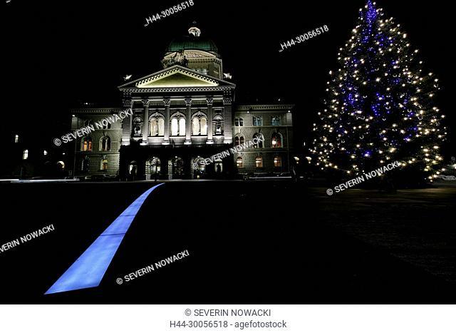 Bundeshaus Advent in Bern