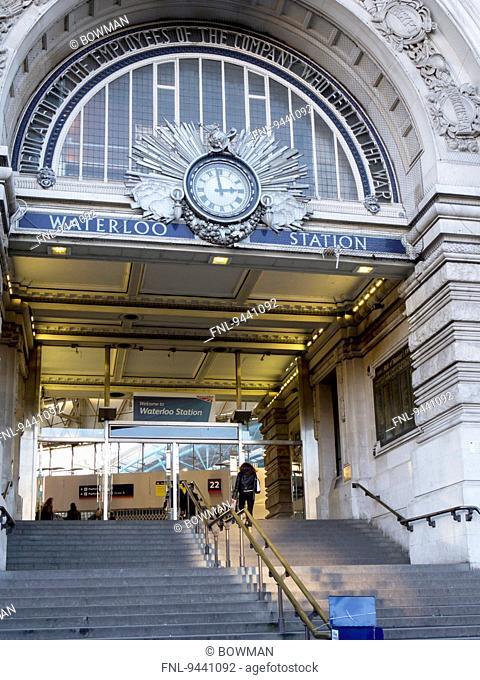 Waterloo Station entrance, London, UK