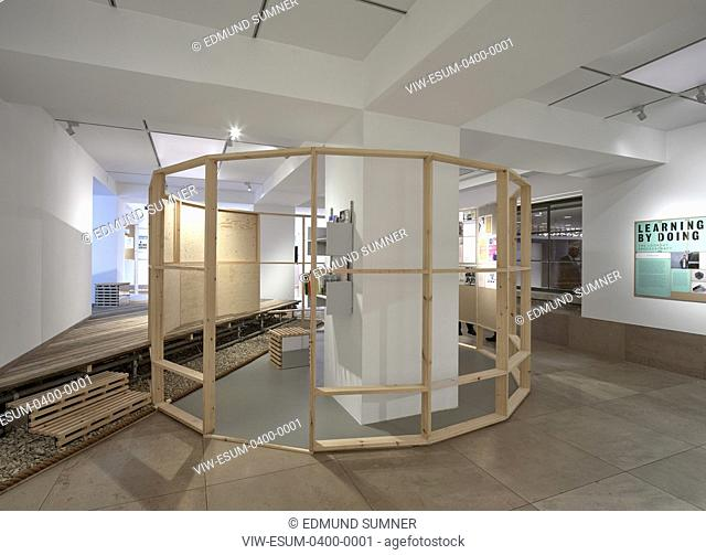 View from entrance. Making it happen: new community architecture exhibition at RIBA, London, United Kingdom. Architect: Hayatsu Architects, 2019